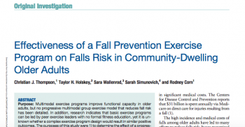 Research Publication on Fall Risk Reduction